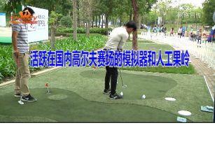 活跃在国内高尔夫赛场的模拟器和人工果岭